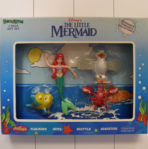 Ariel die Meerjungfrau, Disney, Justoys, Set Biegefigur, Bendable