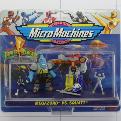 Megazord vs Squatt, Power Rangers, Micro