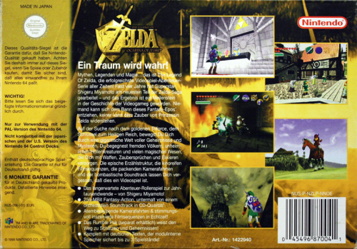 Zelda, The Legend of - Ocarina of Time - N64