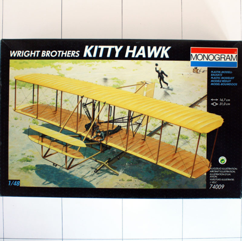 Wright Brothers Kitty Hawk, Monogram 1:48