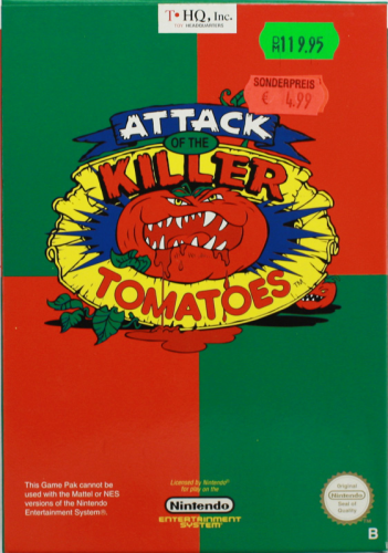 Attack of the Killer Tomatoes, NES, Nintendo