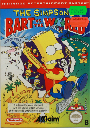 Simpsons, Bart vs the World, NES, Nintendo