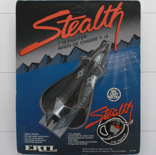Stealth F-19 Fighter, Die-Cast Metal, Ertl