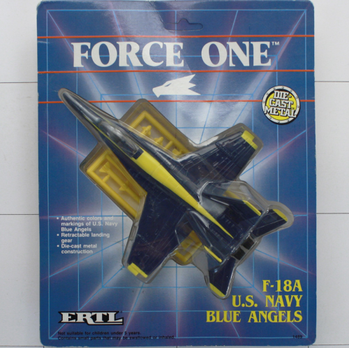 F-18 A Blue Angels, Die-Cast Metal, Ertl