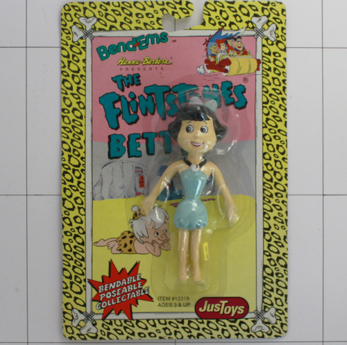 Betty Geröllheimer, Flintstones, JusToys, Hanna Barbera, Bendable
