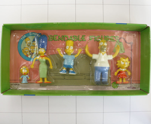 Simpsons, Bart, Homer, Marge, Lisa Maggie  <br />Jesc, Set Biegefigur, Bendable
