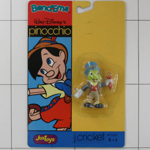 Cricket, Pinocchio, Disney  <br />Justoys, Biegefigur, Bendable