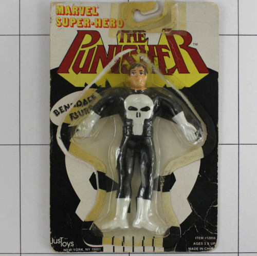 Punisher, Marvel Super Heroes, Justoys, Biegefigur, Bendable