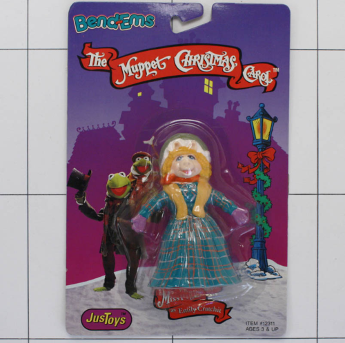 Miss Piggy, Muppet Christmas, Jim Henson, Justtoys, Biegefigur, Bendable