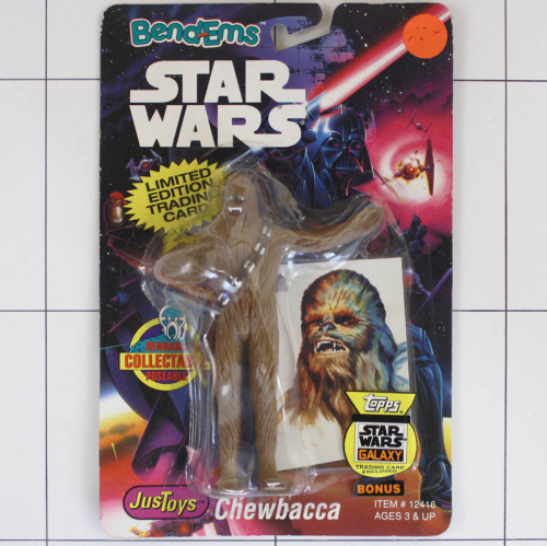 Chewbacca, Star Wars <br />Justoys, Set Biegefigur, Bendable