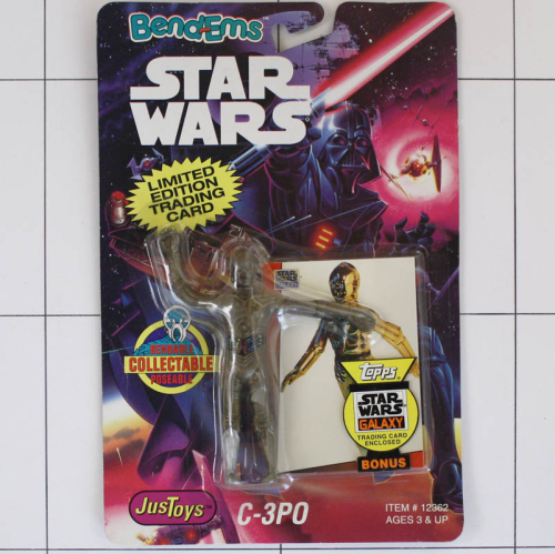 C-3PO, Star Wars <br />Justoys, Set Biegefigur, Bendable