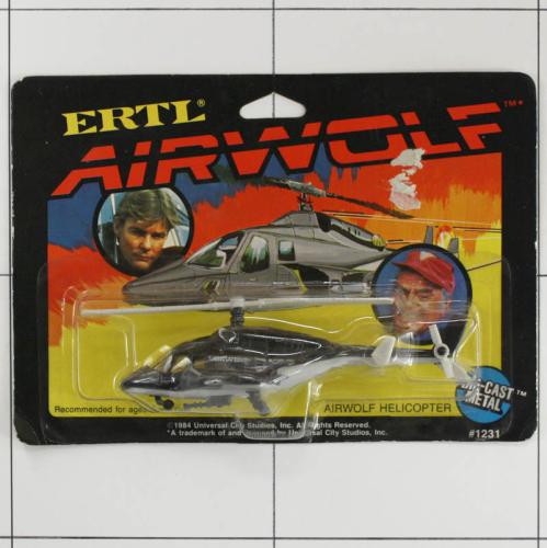 Airwolf Helicopter, Die-Cast Metal, Ertl