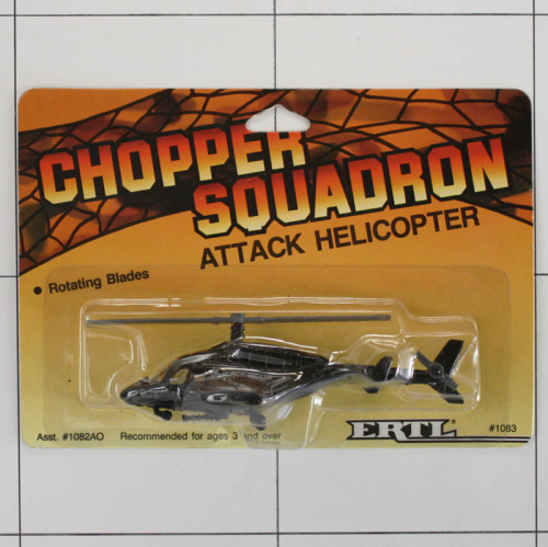 Attack Helicopter, Die-Cast Metal, Ertl