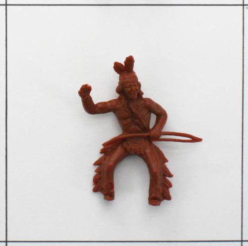 Indianer grüßend, mit Bogen, Indianerreiter<br />braun, Heinerle ...