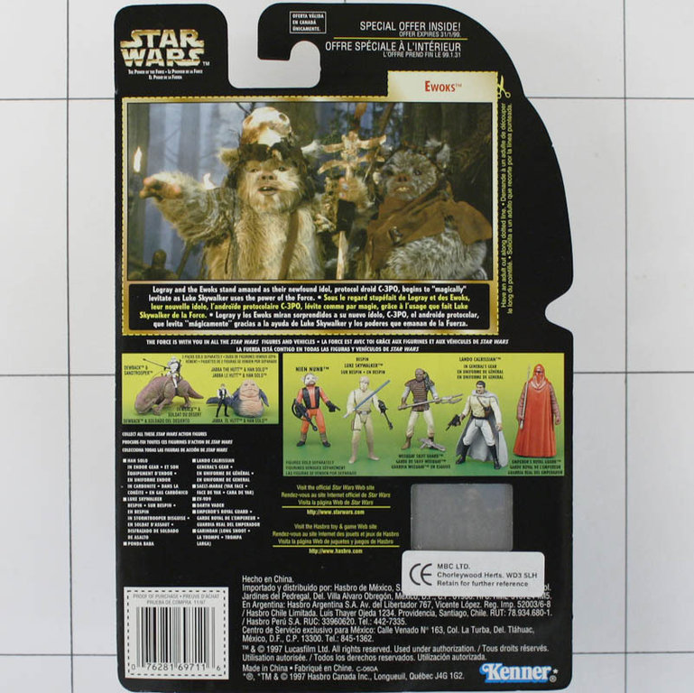 Ewoks Wicket Logray Star Wars Kenner