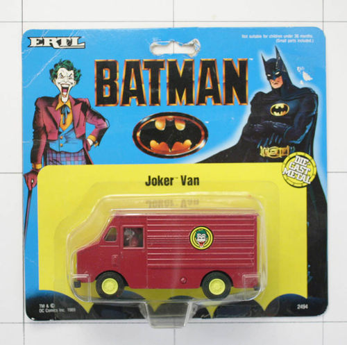 Joker Van, Batman, Die-Cast Metal, Ertl