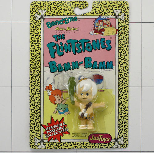 Bam Bam, Flintstones, JusToys, Hanna Barbera, Bendable